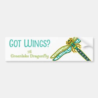 """""""Got Wings?"""" Dragonfly Bumpersticker Car Bumper Sticker"""