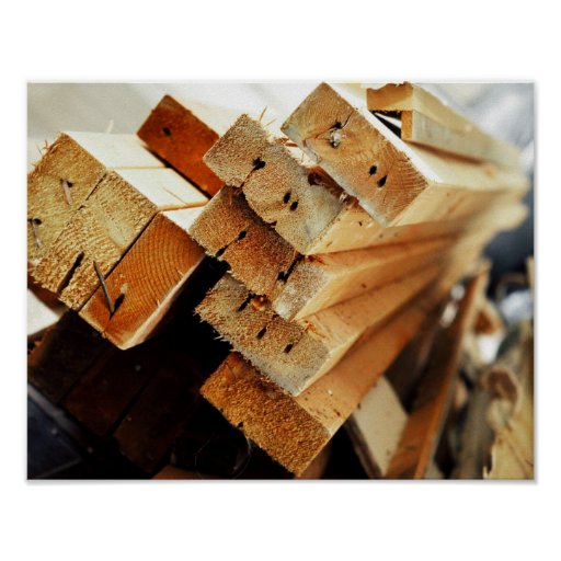 Got Wood? Pile of 2x4s Carpentry Design Posters