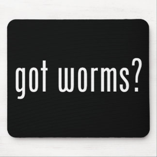 Got Worms? Fishing Bait and Tackle Mouse Pad