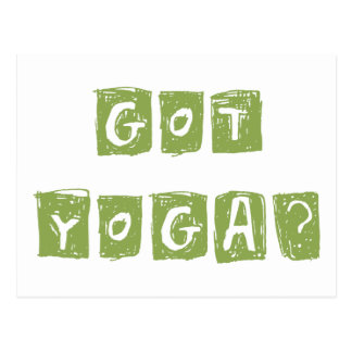 Got Yoga? Gift Postcard