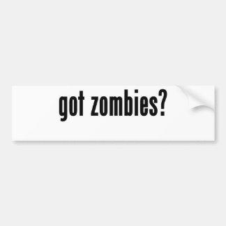 got zombies? car bumper sticker