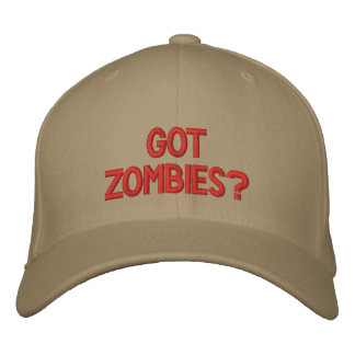 Got Zombies hat Embroidered Hats