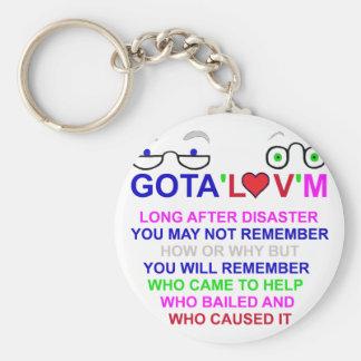 gota'l♥v'm Disaster Key Chains