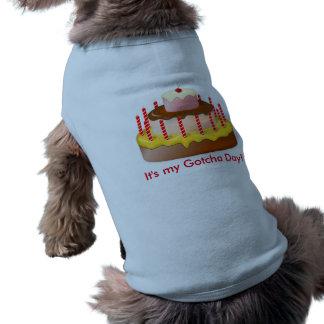 Gotcha Day Shirt For Dogs Sleeveless Dog Shirt