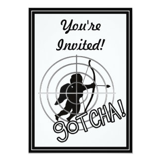 Gotcha In Sight! 13 Cm X 18 Cm Invitation Card