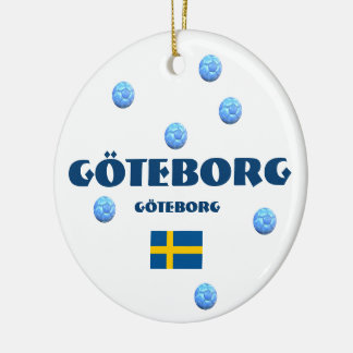 Göteborg Soccer Christmas Ornament