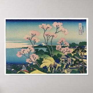 Goten-yama Hill Hokusai Japanese Fine Art Poster