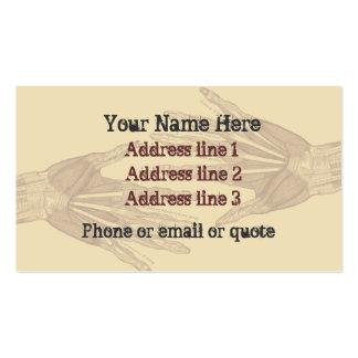 Goth Anatomy Hands Business Card Tan 2