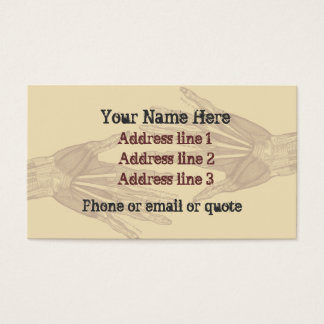 Goth Anatomy Hands Business Card Tan 2