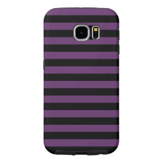 Goth Black and Purple Stripes