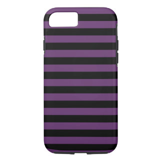 Goth Black and Purple Stripes iPhone 8/7 Case