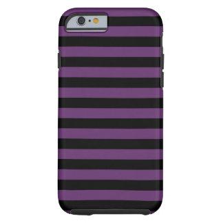 Goth Black and Purple Stripes Tough iPhone 6 Case