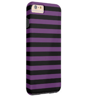 Goth Black and Purple Stripes Tough iPhone 6 Plus Case