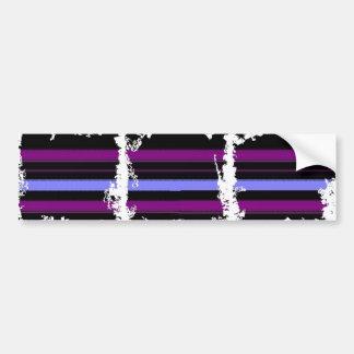 Goth Black Purple Stripe Bumper Sticker