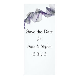 Goth Black & Purple Veil Save the Date Cards