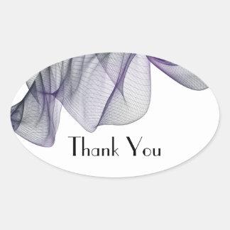 Goth Black & Purple Veil Thank You Stickers