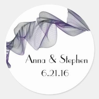 Goth Black & Purple Veil Wedding Stickers