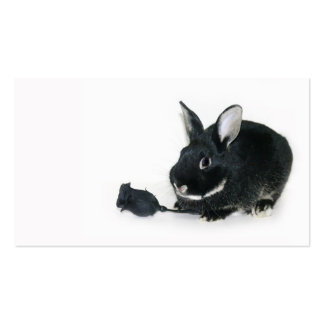 Goth bunny business card template