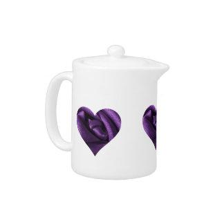Goth Dark Purple Rose Heart
