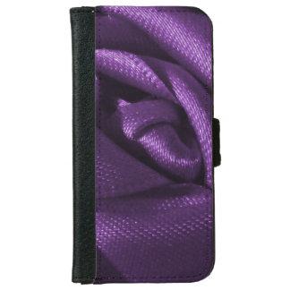 Goth Dark Purple Rose iPhone 6 Wallet Case