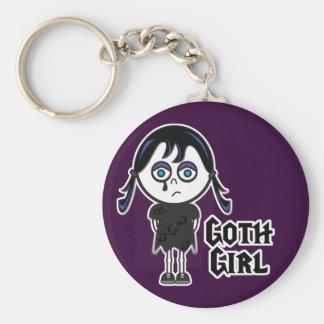 Goth Emo Girl Key Ring