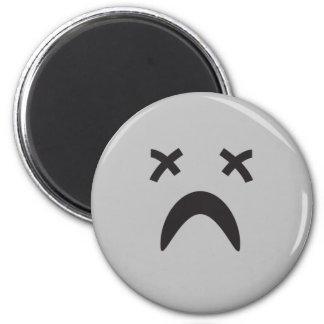 goth emo smiley face refrigerator magnet