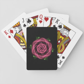Goth Fractal Rose Playing Cards