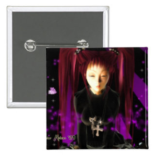 Goth Girl 15 Cm Square Badge