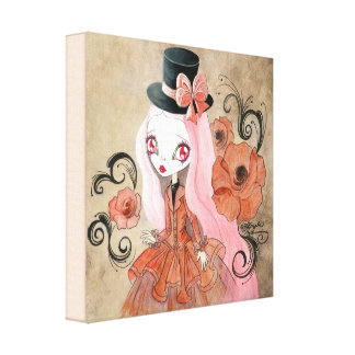 """Goth Girl : """"Abigail"""" Gallery Wrapped Canvas"""