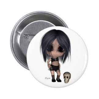 Goth Girl - Button