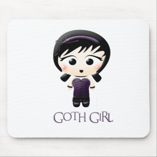 Goth Girl Mouse Mat