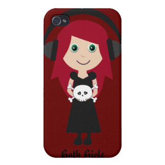 Goth Girls ROCK! iPhone 4 Cover