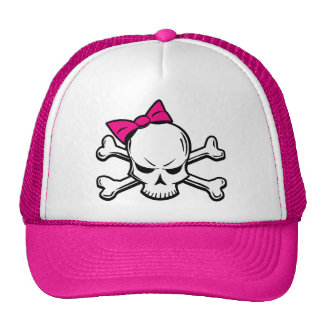 Goth Girly Skull hat