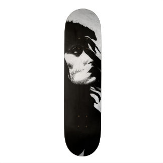 Goth Goddess Portrait Original Art Skate Deck