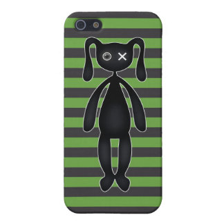Goth Green and Black Bunny iPhone 5 Cover