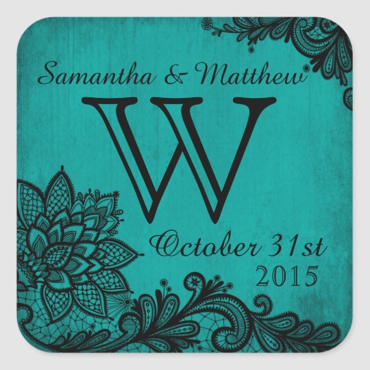 Goth Grunge Lace Wedding Gift Label
