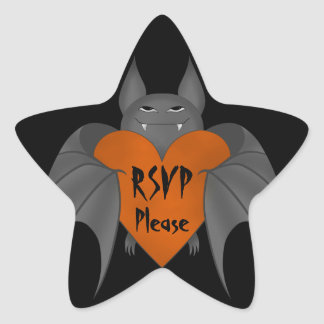 Goth Halloween rsvp Star Sticker