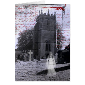 Goth Haunted Cemetery Greeting Card