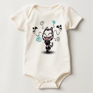 Goth Kitty Babygrow Baby Bodysuit