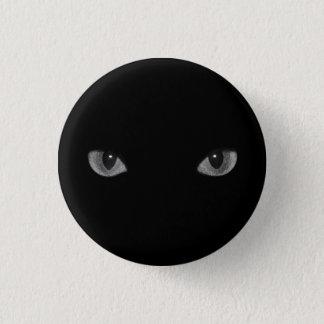 Goth Kitty Cat Eyes 3 Cm Round Badge