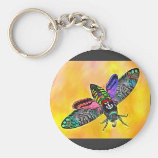 Goth Moth keychain