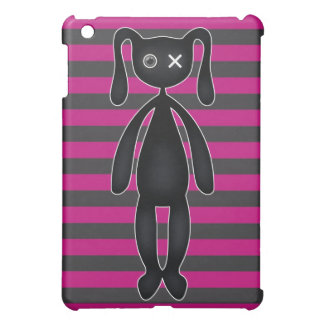 Goth Pink and Black Bunny iPad Mini Cover