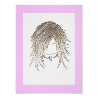 Goth Punk Girl Canvas Poster