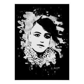 Goth punk Girl Poster
