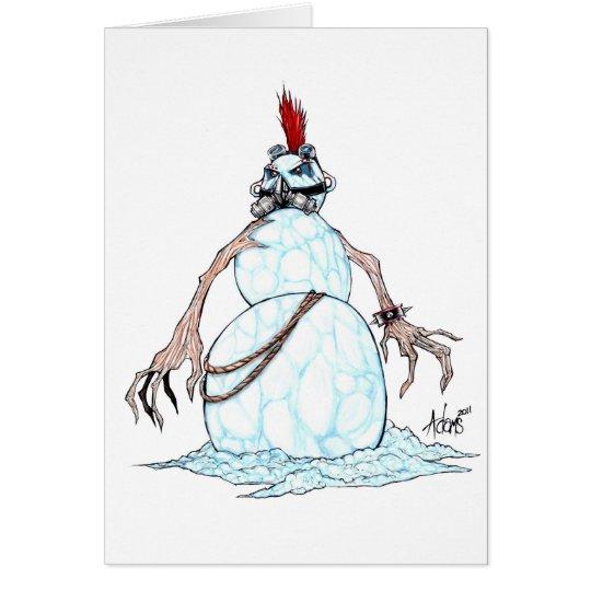 Goth Punk Snowman Card