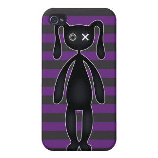 Goth Purple and Black Bunny iPhone 4/4S Case