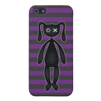 Goth Purple and Black Bunny iPhone 5/5S Case