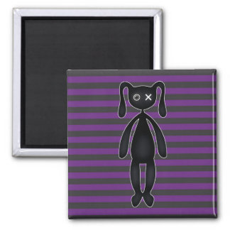 Goth Purple and Black Bunny Magnet