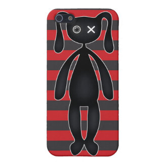 Goth Red and Black Bunny Case For The iPhone 5