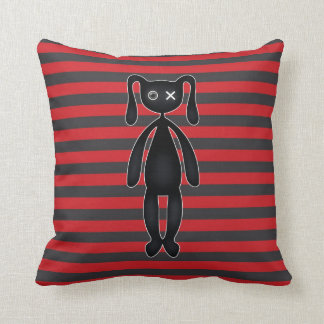 Goth Red and Black Bunny Cushion
